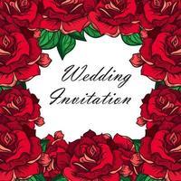 mão desenhada casamento rosa moldura