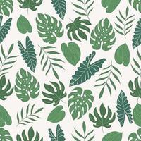 padrão sem emenda com folhas tropicais vetor