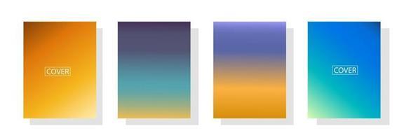 conjunto de fundo abstrato com bela cor de gradação, fundo colorido para cartaz flyer banner backdrop.vertical banner.cool ilustração vetorial de fundo fluido vetor