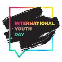 banner internacional do dia da juventude