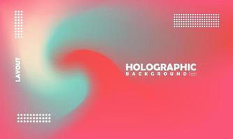 fundo de efeito gradiente holográfico borrado abstrato vetor
