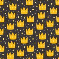 coroas amarelas em fundo escuro vetor