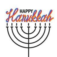 banner de saudação hanukkah vetor