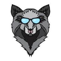 tatuagem de lobo selvagem vetor