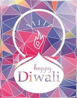 banner de celebração feliz diwali vetor