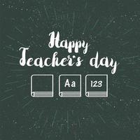 banner de celebração feliz dia dos professores vetor