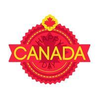 Feliz dia do Canadá vetor