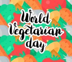 dia mundial vegetariano vetor