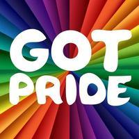 tenho bandeira do orgulho vetor
