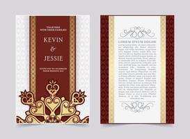 design elegante modelo de cartão de convite de casamento vetor