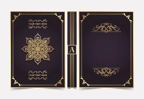 design de capa de livro ornamental de luxo vetor