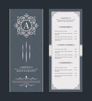 layout do menu com elementos decorativos vetor