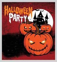 fundo de festa de noite de halloween com lua cheia vetor