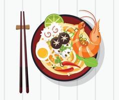 sopa tradicional chinesa com macarrão
