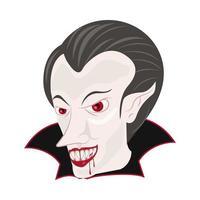 personagem de halloween dracula contagem vetor