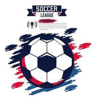 pôster de esporte da liga de futebol com bola vetor