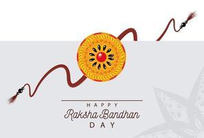 decoração floral raksha bandhan da índia vetor