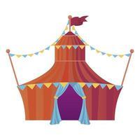 tenda de circo com ícone de entretenimento de guirlandas vetor