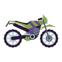 ícone de veículo de estilo motocicleta cruzado vetor