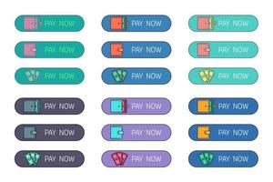 botão de pagamento na web vetor