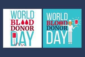 dia mundial do doador de sangue vetor