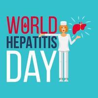banner do dia mundial da hepatite vetor