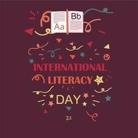dia internacional da alfabetização vetor