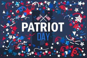 banner do dia do patriota vetor