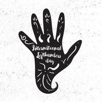 dia internacional do canhoto vetor