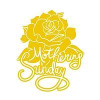 rotulação maternal de domingo vetor