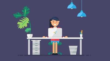 espaço de trabalho de tecnologia criativa vetor