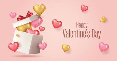 Feliz dia dos namorados cartão banner com elementos de dia dos namorados