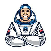personagem de vetor astronauta