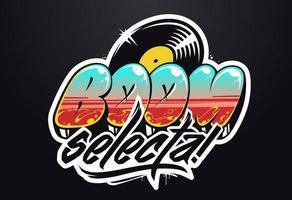 logotipo musical de graffiti de vetor