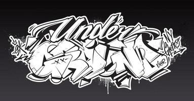 arte vetorial de letras de graffiti subterrâneo vetor