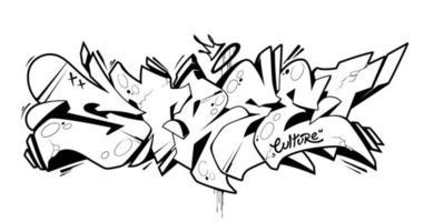 arte vetorial de letras de graffiti de rua vetor
