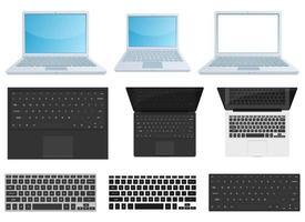 ilustração de desenho vetorial de dispositivo portátil conjunto isolado no fundo branco vetor