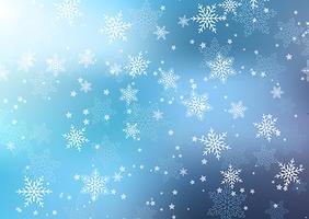Flocos de neve natal