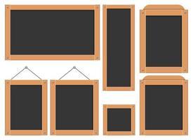 menu quadro preto ilustração vetorial design conjunto isolado no fundo branco vetor