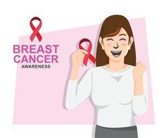 design de conscientização do câncer de mama