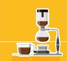design de cafeteira com caneca vetor