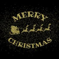 Fundo de ouro feliz Natal glitter vetor