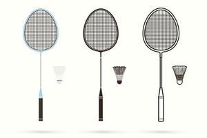 raquete de badminton e peteca vetor