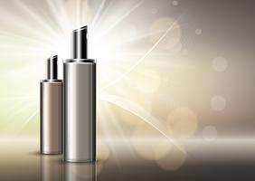 Fundo de frascos cosméticos em branco de luxo vetor