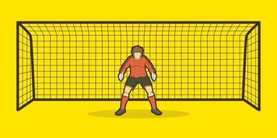 goleiro jogador de futebol vetor