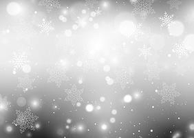 Fundo de flocos de neve prateado