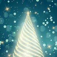 Fundo de Natal de faísca vetor