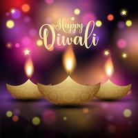 Fundo decorativo da lâmpada de Diwali vetor