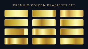 conjunto de gradientes dourados premium vetor