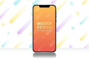 design de maquete de smartphone vetor
